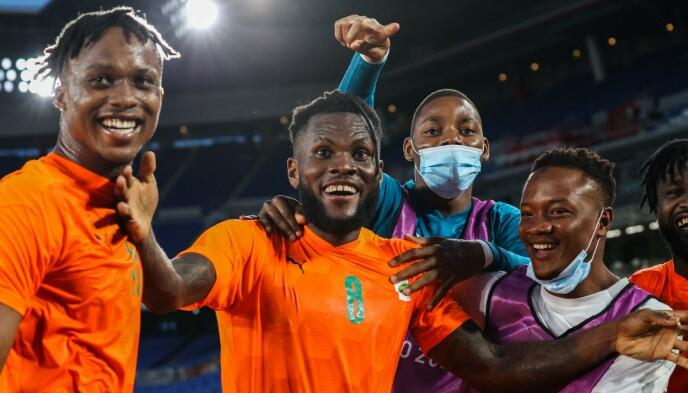 AVGJØRENDE: Milan-stjerne Franck Kessie sørget for seier til Elfenbenkysten. Foto: Afp