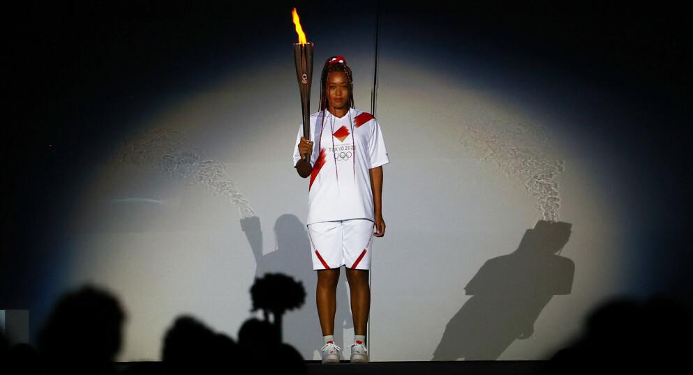 DEN STØRSTE: Naomi Osaka tente OL-ilden i Tokyo. Hun er en superstjerne som bevissst bruker gjennomslagskraften sin til å ta opp verdispørsmål. REUTERS/Stefan Wermuth