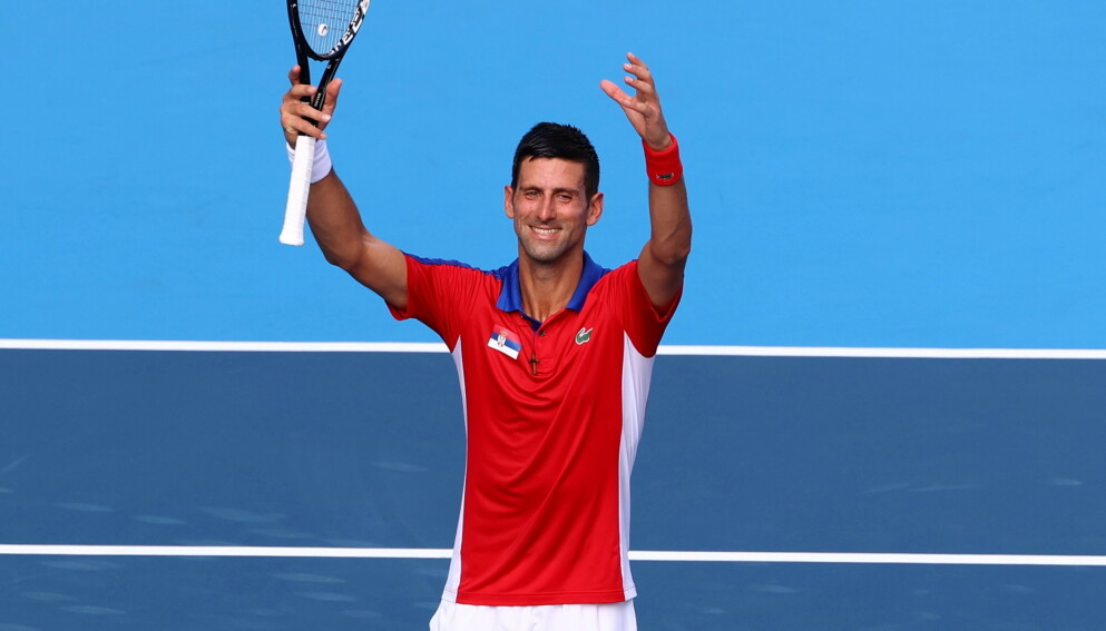 IMPONERER: Novak Djokovic vant sin åpningskamp i OL. Nå imponerer han også på andre plattformer. Foto: Reuters