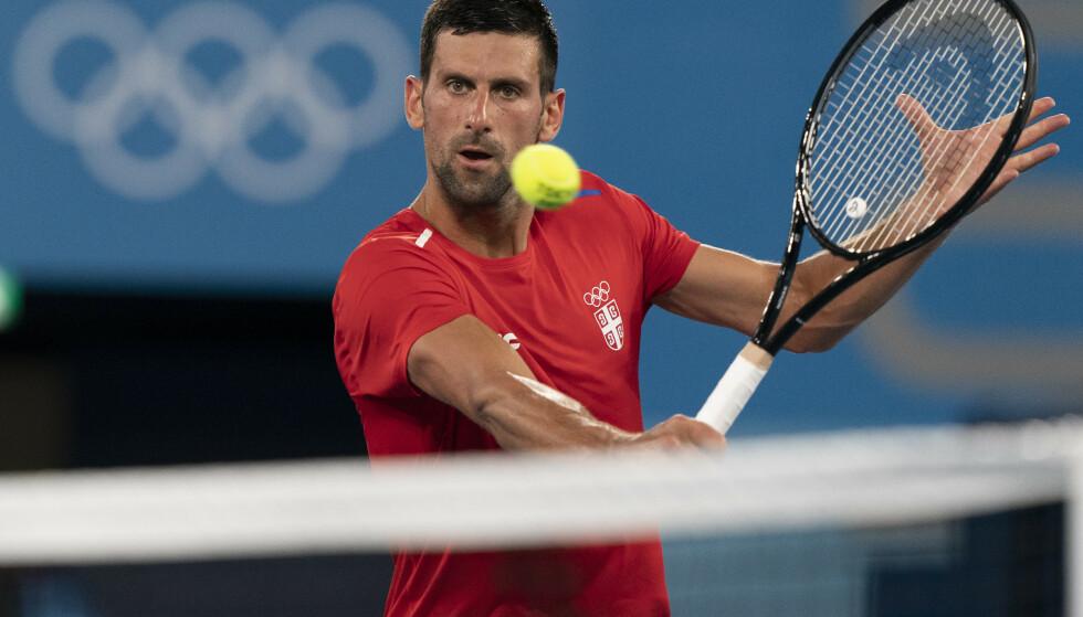 GULL I SIKTE: Novak Djokovics er storfavoritt til å vinne OL. Foto: AP