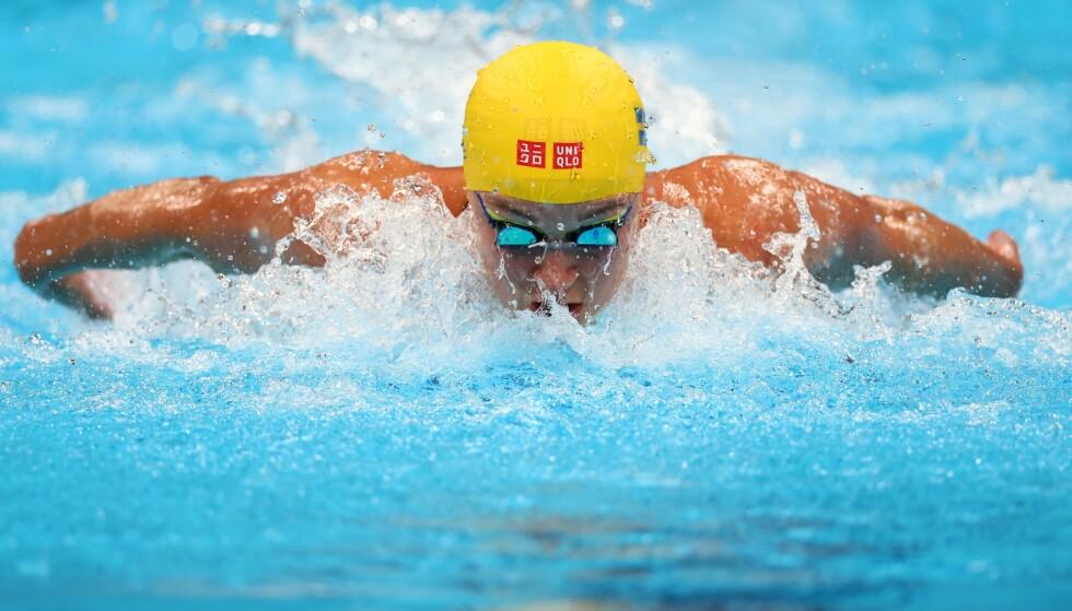 TØFT: Sarah Sjöström klarte ikke å forsvare gullet sitt fra Rio i 2016. Foto: Kai Pfaffenbach / Reuters / NTB