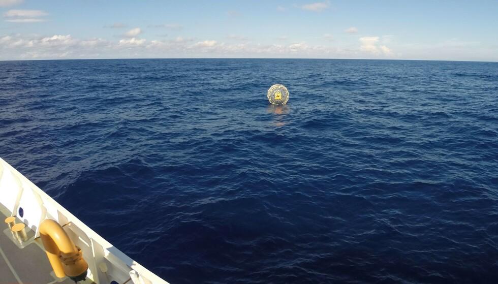 MOTTOK NØDSIGNAL: Baluchi ble nødt til å sende ut nødsignal da bobla sprakk på ferden til Bermuda i 2014. Foto: Den amerikanske kystvakten / PO3 Mark Bar / AFP / NTB