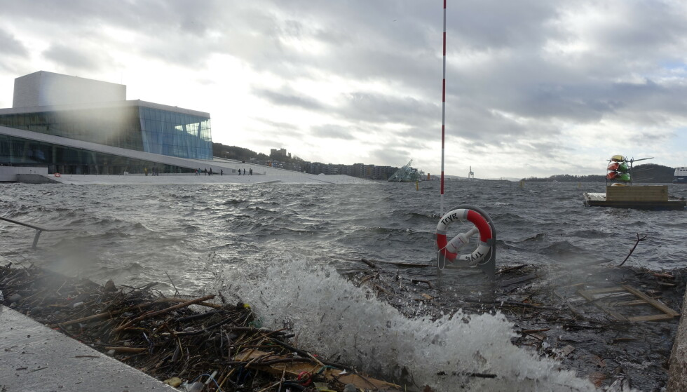 Dangers: In February 2020, the opera in Oslo was flooded.  The Norwegian Meteorological Agency has issued a yellow alert for high water levels throughout eastern Norway.  Authorities are working to protect cities in the future.  Photo: Cornelius Pope / NDP