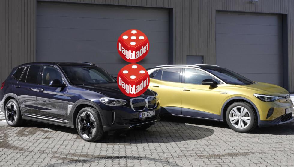 GANSKE LIK: Formfaktoren er ikke ulik, men det er likevel mye som skiller bilene fra hverandre. Foto: Fred Magne Skillebæk
