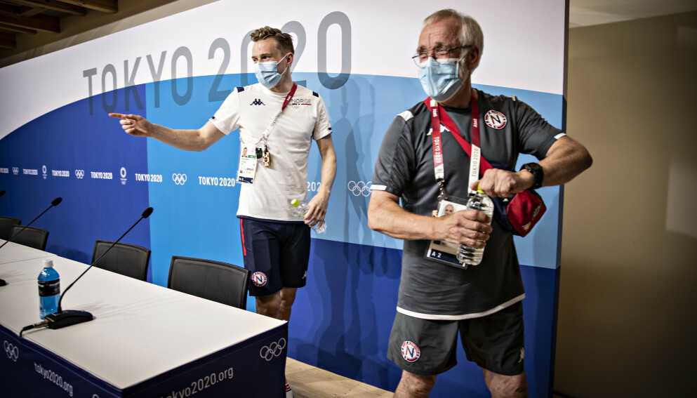ØYNER GULL: Karsten Warholm kan ta sitt første OL-gull i Tokyo. Da må han slå rivalen Rai Benjamin og resten av feltet. Foto: Bjørn Langsem