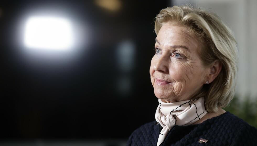 UTTALER: Berit Kjøll uttaler seg om Blummenfelts privatlag. Foto: Berit Roald / NTB