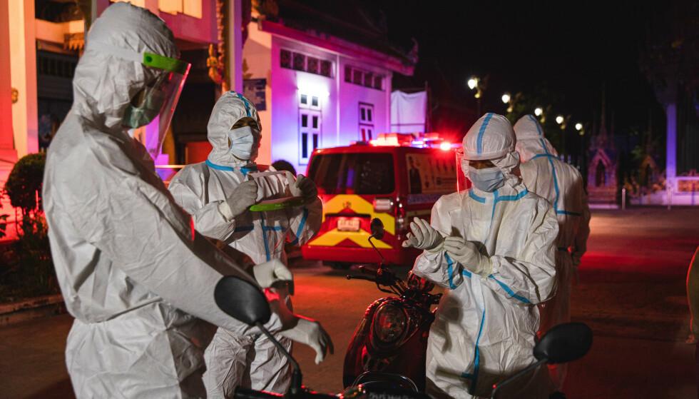 NÆR KOLLAPS: Smittesituasjonen i Thailand er alvorlig, og sykehusene har ikke nok plasser til alle coronasmittede. Foto: NTB