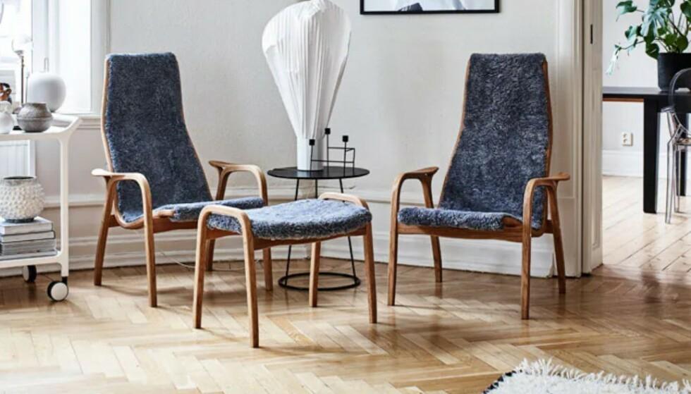 Lamino lenestol fra Swedese ble designet av Yngve Ekström i 1956.