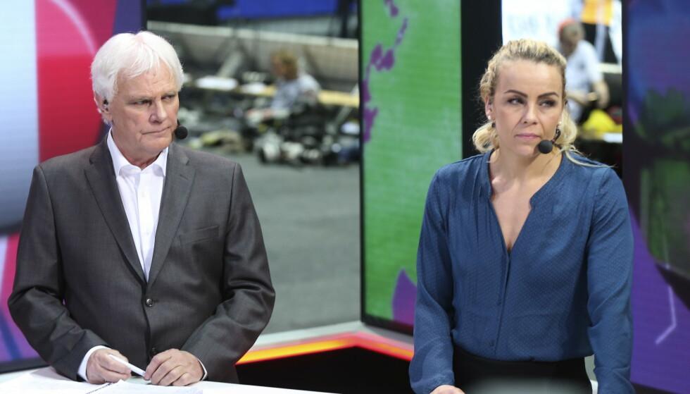 EKSPERT: Frode Kyvåg her som ekspert for Viasat og TV 3. Foto: Vidar Ruud / NTB