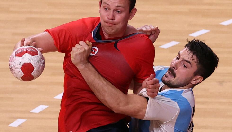 I AKSJON: Sander Sagosen i aksjon mot Argentina. REUTERS/Gonzalo Fuentes
