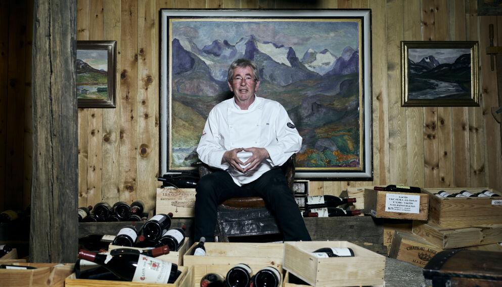 MESTEREN: Med eget vinlager og kortreist mat byr Arne Brimi på sterke meninger og gründeropplevelser. Foto: Morten Rakke