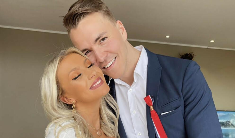 NYBAKTE FORELDRE: Martin Reinertsen fra «Love Island» og kjæresten Caroline Norlin har blitt foreldre. Foto: Privat
