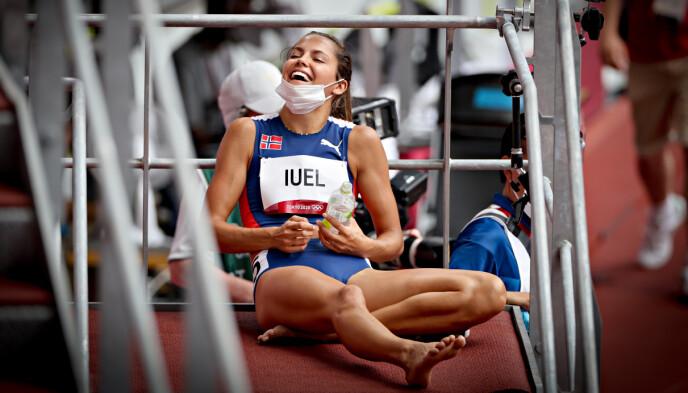 GLAD: Amalie Iuel var lettet da hun gikk videre.