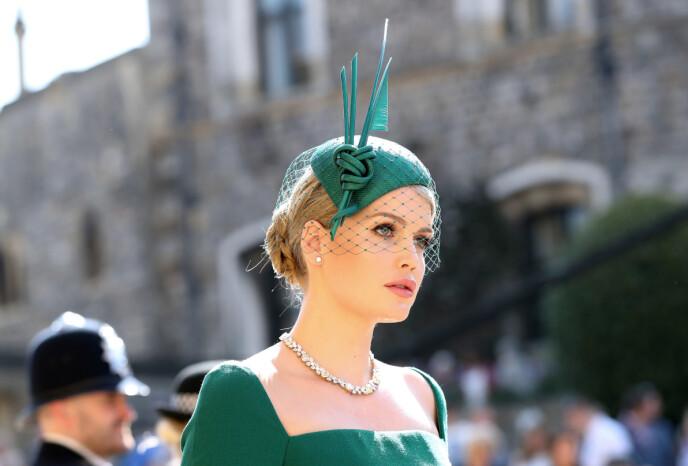 BRYLLUP: Kitty Spencer stjal oppmerksomheten i bryllupet til Meghan og Harry i mai 2018. Nå har hun selv giftet seg. Foto: Rex / Shutterstock / NTB