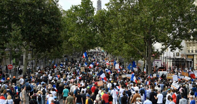 PROTEST: More than 150,000 protesters are expected.  Photo: Bertrand Guay / NTB