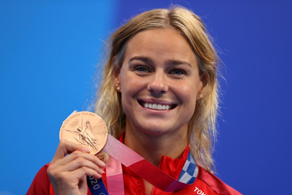 BEVISET: Pernille Blume sikret en ny OL-medalje søndag. Foto: NTB