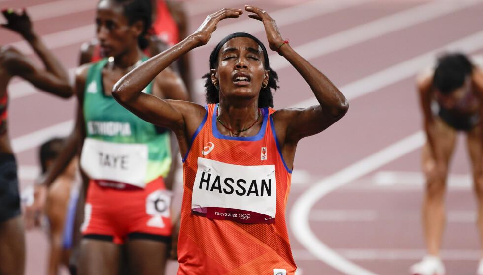 GÅR FOR TRIPPEL: Sifan Hassan prøver seg på tre distanser i OL. Foto: Lise Åserud / NTB