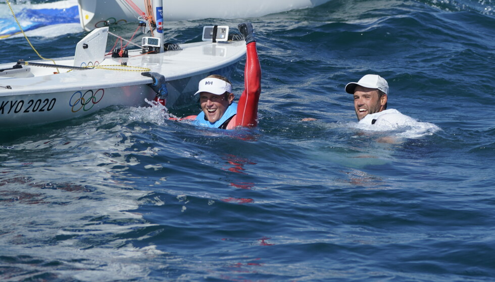 FEIRET: Etter målgang kunne Tomasgaard endelig slippe jubelen løs. Foto: NTB