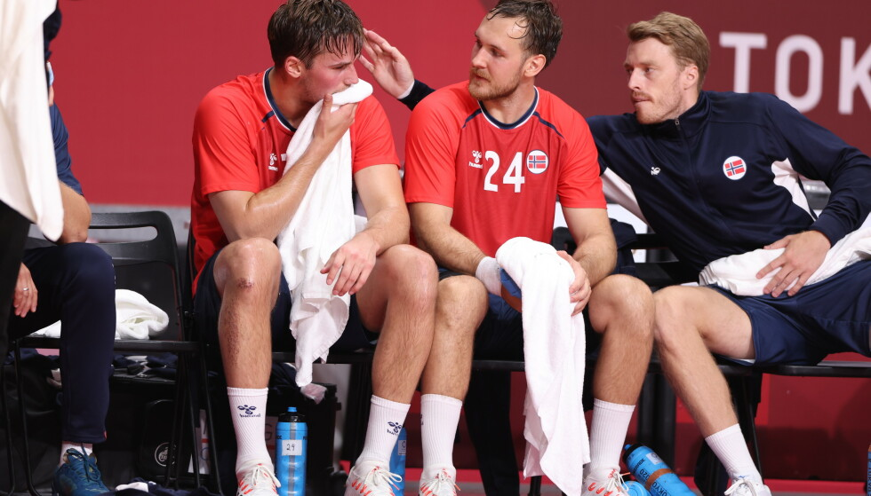SKADER: Norge fikk to skader i kampen mot Frankrike. Foto: Bjørn Langsem