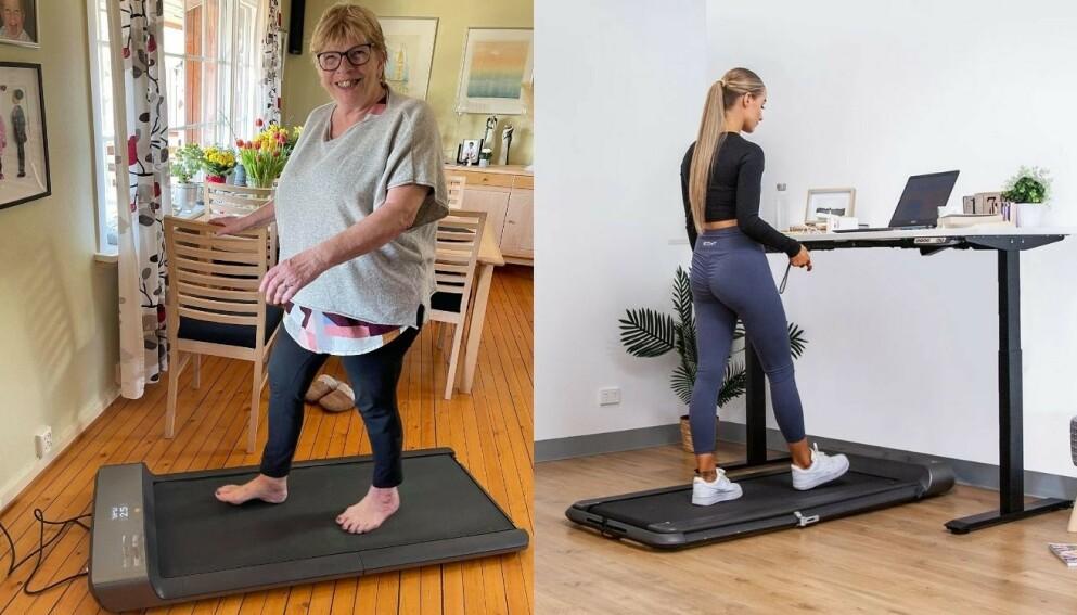 Med en Walkingpad kan du gå deg en tur eller jogge mens du ser på TV eller jobber. Nå er de første modellene på tilbud.