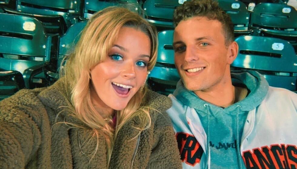 LIKHET: Ava Phillippe, datter av Reese Witherspoon og Ryan Phillippe, får oppmerksomhet for sitt ferske kjærestebilde. Foto: Skjermdump fra Instagram