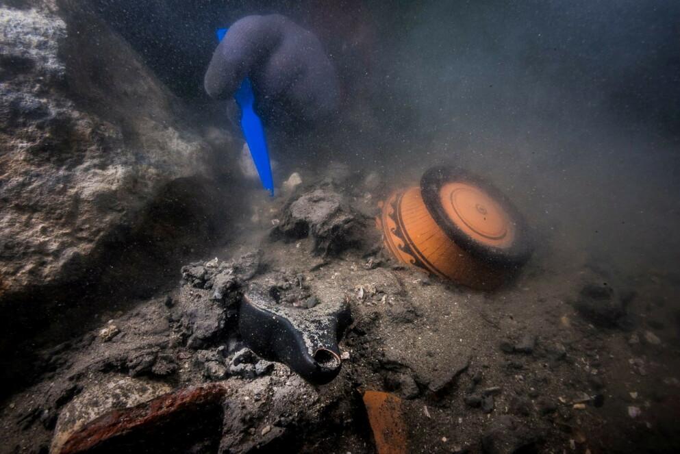 FUNN: Arkeologer har gjort flere oppdagelser ved Thonis-Haraklion de siste åra. Foto: AFP/NTB