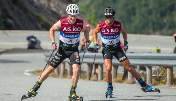 DUELL; Gaute Kvåle og Jens Burman knivet om seieren under Lysebotn Opp. Foto: Carina Johansen / NTB
