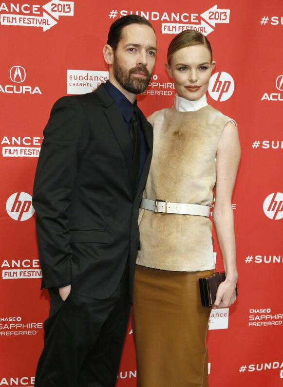 LYKKELIGERE TIDER: Kate Bosworth og Michael Polish forlovet seg i 2012. Her fra premieren av filmen «Big Sur» under Sundance Film Festival året etter. Foto: Danny Moloshok / Invision / AP / NTB