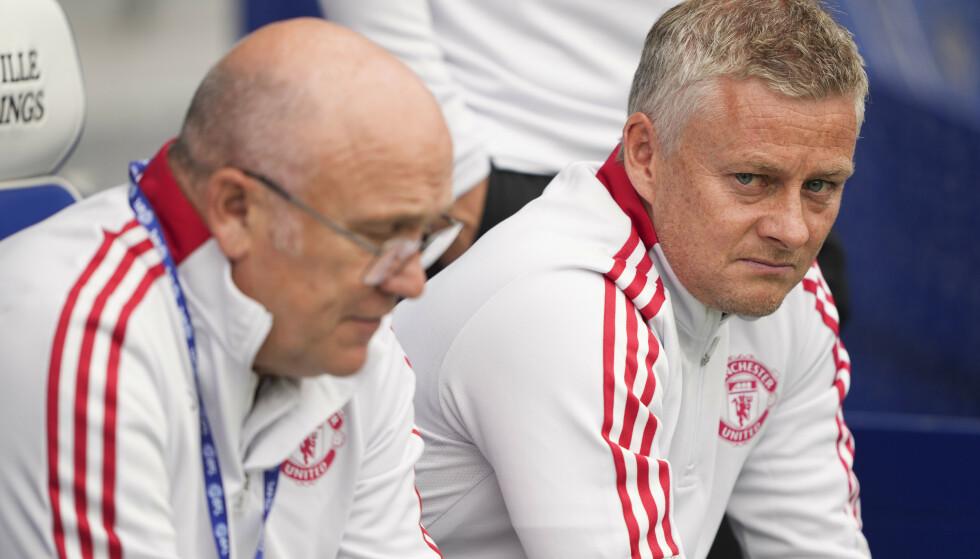 DUO: Mike Phealen og Solskjær blir å se på Uniteds trenerbenk også i år. Foto: Shutterstock