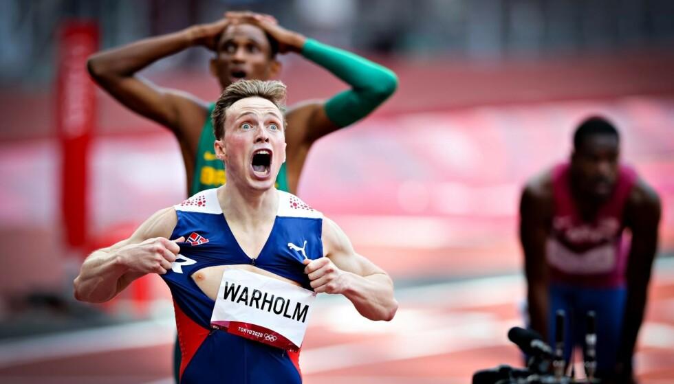 ENORM PRESTASJON: Karsten Warholm tok både OL-gull og satte ny verdensrekord. Foto: Bjørn Langsem / Dagbladet