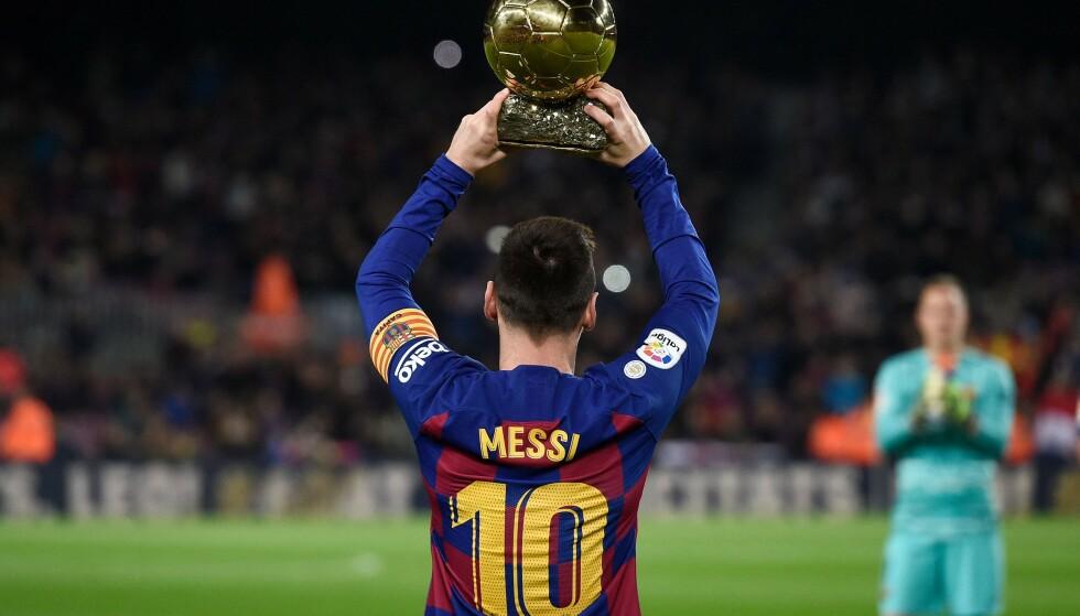 6 GULLBALLER: Lionel Messi har vunnet gullballen ved hele seks anledninger. Mestvinnende noensinne. FOTO: AFP
