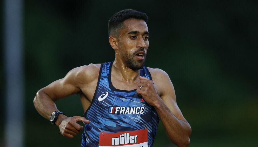 SKAPER REAKSJONER: Morhad Amdouni har skapt storm på Twitter etter maratonet i OL i Tokyo. FOTO: Reuters