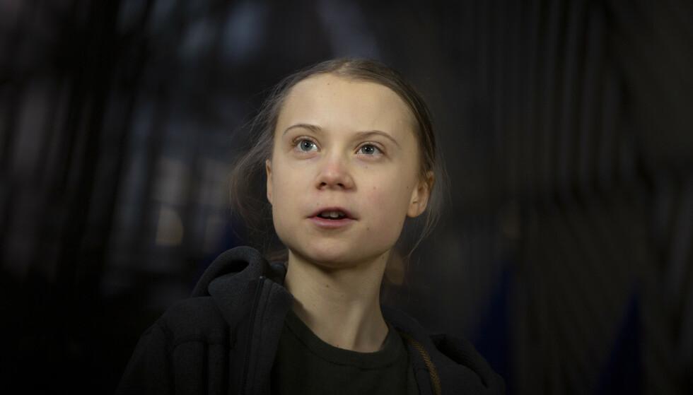 KJENT AKTIVIST: Miljøaktivisten Greta Thunberg (18) har vært en høylytt stemme i klimakampen. I 2019 fikk hun den prestisjefylte tittelen som «Årets person» i amerikanske Time magazine. Nå er hun på forsiden av det nylanserte Vogue Scandinavia. Foto: NTB