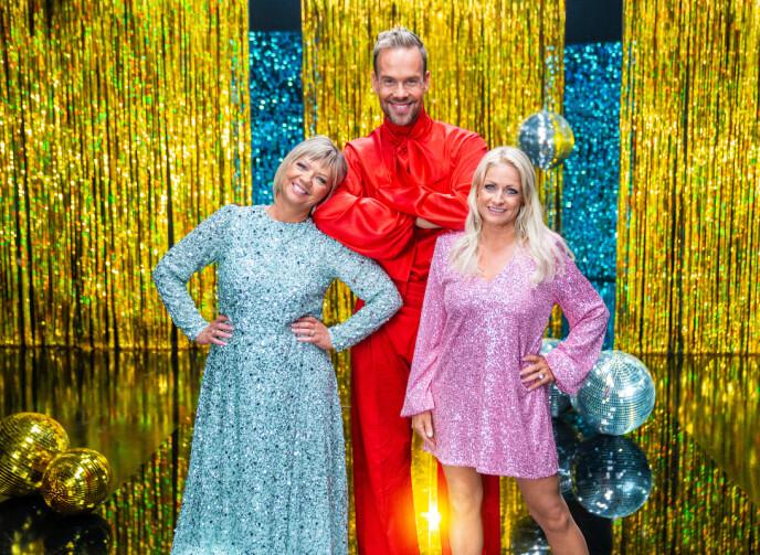 DOMMERE: Årets dommerpanel består av Trine Dehli Cleve, Morten Hegseth og Merete Mørk Lingjærde. Foto: Espen Solli / TV 2
