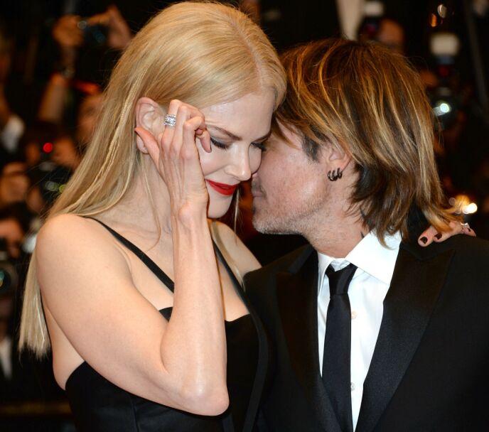 HETE FØLELSER: Nicole og Keith gjør som regel fint lite for å skjule følelsene sine for hverandre. Her i forbindelse med filmfestivalen i Cannes i 2017. Foto: Shutterstock/NTB