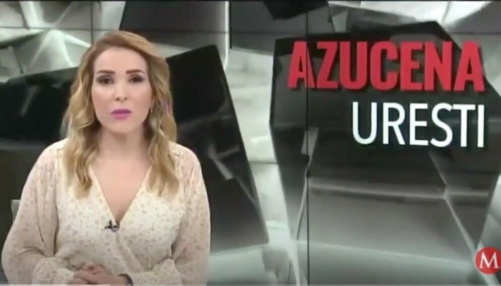 TRUET: Programleder Azucena Uresti har blitt drapstruet av folk som hevder å være fra et av Mexicos mektigste karteller. Foto: Milenio Televisión / YouTube