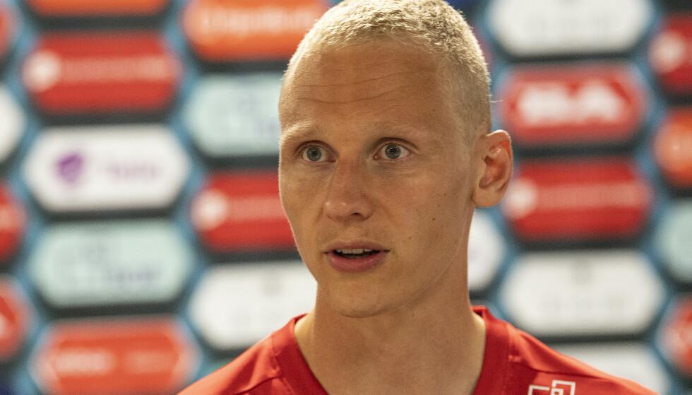 BEKLAGER: Brann-spiller Kristoffer Barmen var en av spillerne som var til stede på nachspillet på Brann Stadion. Foto: Marit Hommedal / NTB