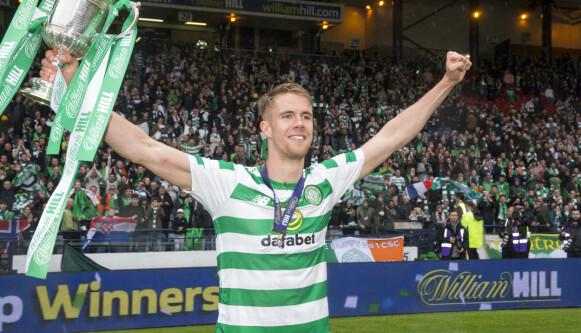 CUPMESTER: Det ble tre serietitler og tre cuptitler for Ajer i den skotske hovedstaden med Celtic. Foto: NTB.