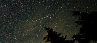 Spektakulært syn på himmelen i kveld