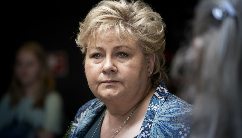 VITNER IKKE: Regjeringsadvokaten har argumentert for at Erna Solberg skal slippe å vitne i saken. Foreløpig har de fått gjennomslag for argumentasjonen. Foto: Lars Eivind Bones / Dagbladet