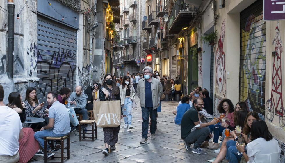 NY REKORD: Det ble målt 48,8 grader på den italienske øya Sicilia onsdag. Det er ny europarekord. Foto: Eugenio Grosso / Redux / NTB