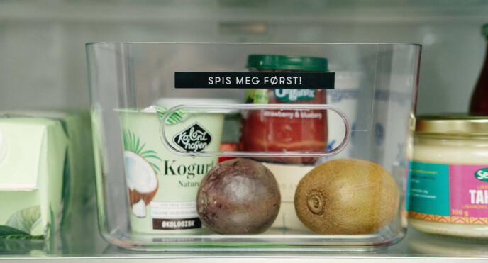 SPIS MEG FØRST: Merking av boksene kan føre til mindre matsvinn. Foto: Oda