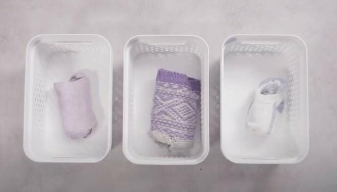 SORTER SOKKENE: Ved å skille ut ull-, bomull- og treningssokker blir det mye enklere å finne akkurat paret du trenger.