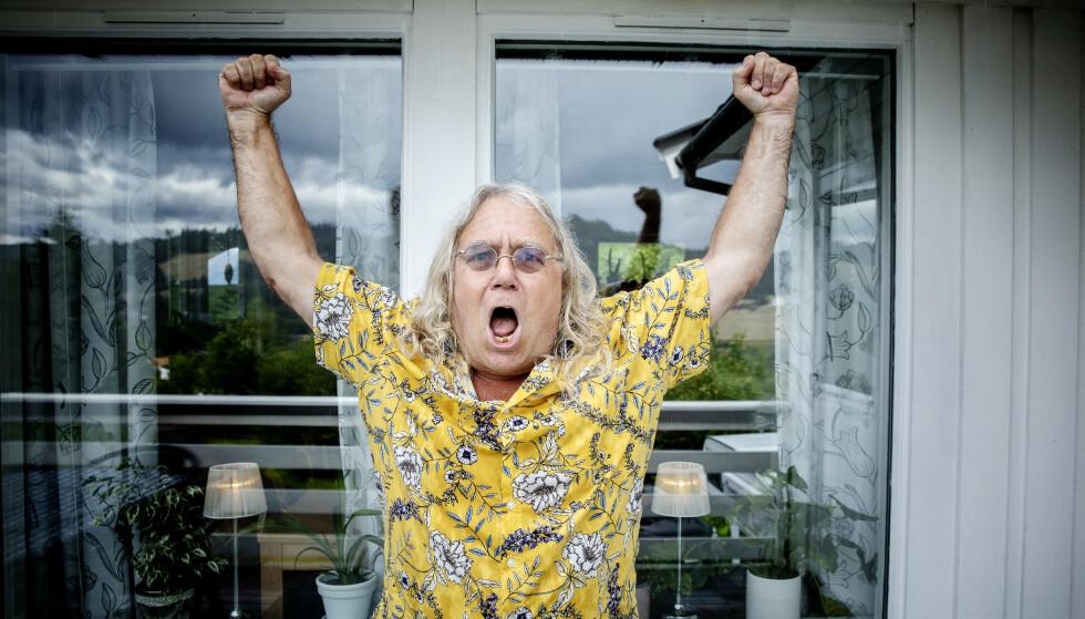 RASENDE: «Farmen-versting» Helgi Agustsson (65) sier at han egentlig er ganske snill. - Men jeg kan være veldig slitsom noen ganger. Foto: Nina Hansen / Dagbladet