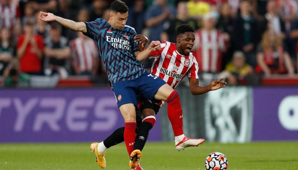 Shaken: Brentford schudde Arsenal vanavond in de Premier League-opener.  Foto: Adrian Dennis/AFP/NTB
