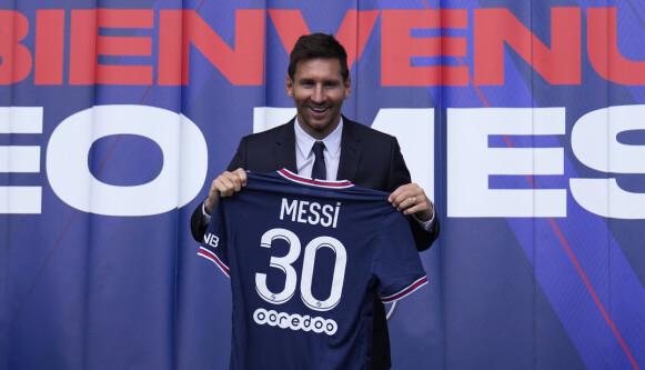 STJERNEN: Lionel Messi er spilleren PSG har valgt å signere. Foto: AP Photo/Francois Mori.