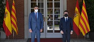 Sánchez binder opp Catalonia