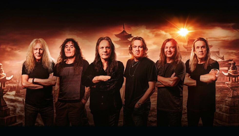 TILBAKE: Fredag slipper Iron Maiden sin første plate på seks år. Album nummer 17 har fått tittelen «Senjutsu». Foto: John McMurtrie