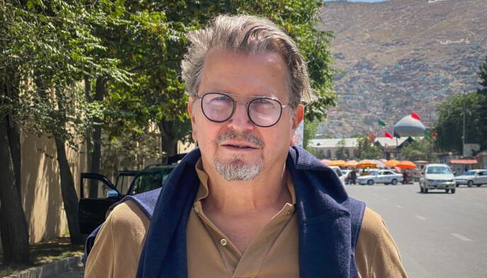 I KABUL: Terje Watterdal er landdirektør for Afghanistankomiteen og er nå i hovedstaden. Han ble stoppet på vei til flyplassen, men jobber nå for å få plass på et fly ut av landet når det er mulig. Foto: Nigel Walker / Afghanistankomiteen
