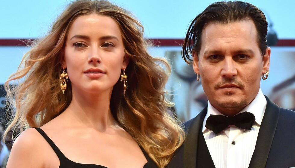 Happy Times: Amber Heard e Johnny Depp, prima che tutto si fermi.  Qui nel 2015. Foto: Giuseppe Cacace/AFP/NTB